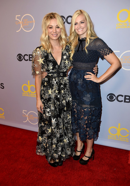 Beth Behrs Lace Dress