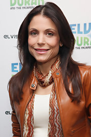 Bethenny Frankel looked causally chic wearing her hair in soft polished layers while visiting the Z100 Elvis Duran morning show.
