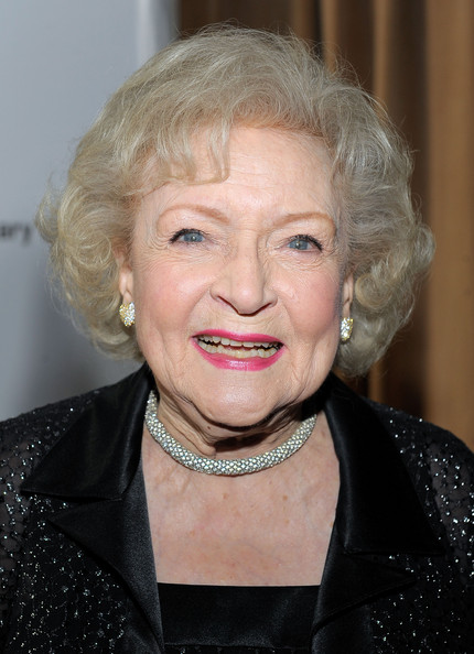 Betty White Curled Out Bob [hot in cleveland,retired at 35,hair,face,blond,hairstyle,chin,eyebrow,lip,smile,wrinkle,betty white,arrivals,sunset tower hotel,west hollywood,california,tv land,party,premiere party]