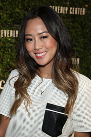 Aimee Song sported perfectly styled ombre waves at the Beverly Center 'Show Us Your Style' Challenge.