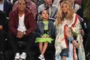 Beyonce Knowles Printed Coat