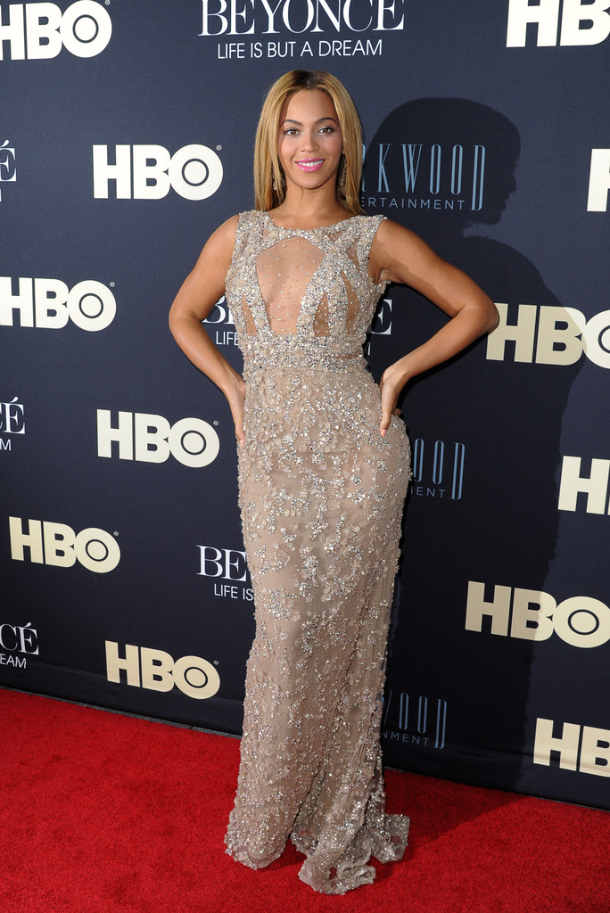 Beyonce Sparkles in Elie Saab at Her Documentary Premiere