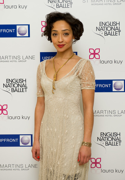 More Pics of Ruth Negga  Bob (1 of 3) - Short Hairstyles Lookbook - StyleBistro [clothing,skin,dress,fashion model,shoulder,hairstyle,fashion design,beige,fashion,neck,ruth negga,pre-party,legacy,st martins lane hotel,england,london,party,ballet russes,english national ballet,season]