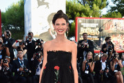 Bianca Balti Strapless Dress