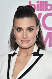 Idina Menzel opted for a casual half-up hairstyle when she attended the Billboard Women in Music 2016.