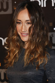 Maggie Q's center-parted wavy 'do at the CW premiere party had an edgy feel to it.