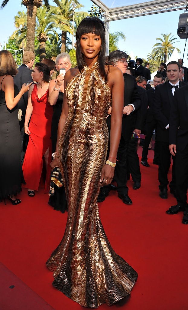 "Model Naomi Campbell attends the ""Biutiful"" Premiere at the Palais des Festivals during the 63rd Annual Cannes Film Festival on May 17, 2010 in Cannes, France."