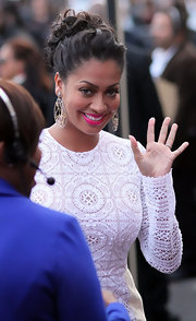 La La Anthony looked radiant at Black Girls Rock! 2011. Her pretty bobby-pinned updo was ultra elegant paired with stunning statement-making earrings.