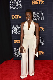 Danai Gurira chose a sexy white halter jumpsuit for her Black Girls Rock! look.