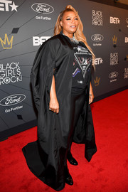 Queen Latifah went goth in a flowing cape at the 2018 Black Girls Rock! event.