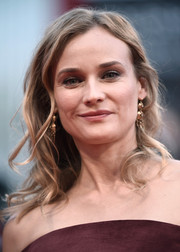 Diane Kruger wore messy-glam waves during the premiere of 'Black Mass.'