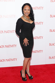 Lynn Whitfield looked very curvy in a ruched LBD during the premiere of 'Black Nativity.'