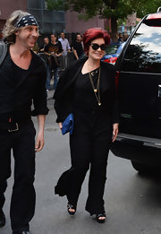 Sharon Osbourne arrived at a Black Sabbath event wearing a jumpsuit.