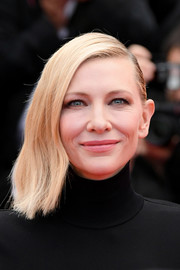 Cate Blanchett wore her hair in a half-pinned style at the Cannes Film Festival screening of 'BlacKkKlansman.'