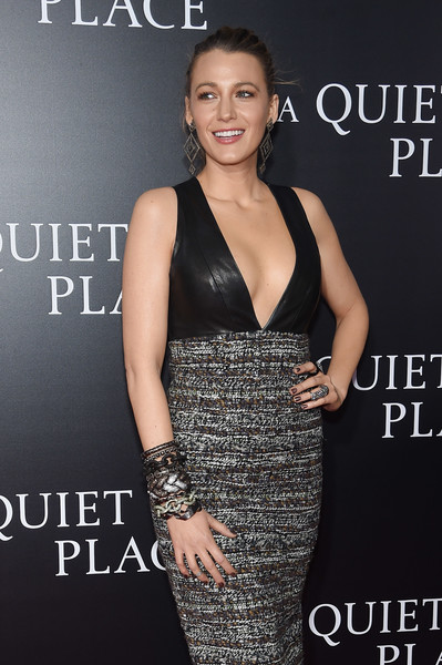 Blake Lively Statement Ring [a quiet place,clothing,dress,cocktail dress,premiere,fashion,shoulder,little black dress,event,fashion model,neck,blake lively,new york city,amc lincoln square theater,premiere,new york premiere]