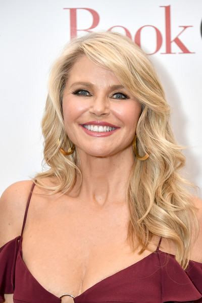 Christie Brinkley looked gorgeous with her long waves and side-swept bangs at the New York screening of 'Book Club.'
