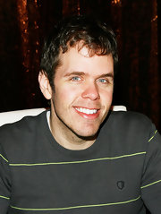 Perez Hilton wore his hair in a tousled Caesar cut during his book signing.