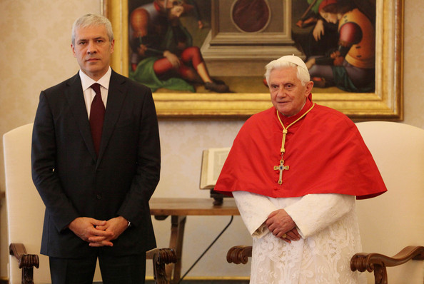 Pope Meets With Serbian And Czech Leaders