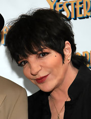 Liza Minnelli toned down with her jewelry when she put on a pair of gold studs for the premiere of 'Born Yesterday.'