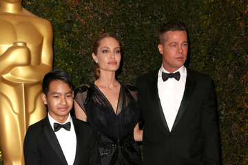 Brad Pitt Maddox Jolie-pitt Arrivals at the Governors Awards in Hollywood