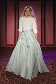 A pale mint ball skirt provided an ultra-glam finish.