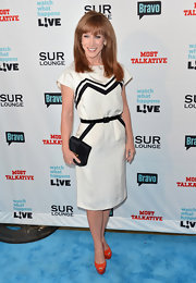Kathy Griffin looked cute at the Bravo event wearing this black-and-white belted dress.