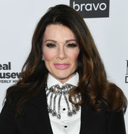 Lisa Vanderpump wore her hair down with curly ends at the 'Real Housewives of Beverly Hills' premiere party.