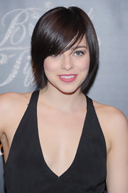 Krysta Rodriguez rocked a sleek and straight 'do with adorable side-swept bangs while at the 'Breakfast at Tiffany's' opening night.