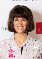 Dawn O'Porter wore her hair in an old-school bob at the Breast Cancer Care London Fashion Show.