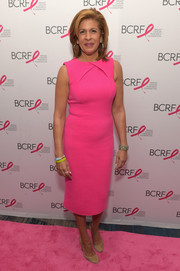 Hoda Kotb looked radiant in a hot-pink midi dress at the Breast Cancer Research Foundation New York Symposium.