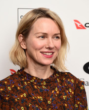 Naomi Watts kept it casual with this short wavy 'do at the Australian International Screen Forum premiere of 'Breath.'