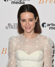 Claire Foy kept it super simple with this short straight hairstyle at the New York special screening of 'Breathe.'