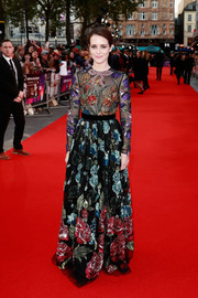 Claire Foy took our breath away with this gorgeous floral-beaded gown by Gucci at the European premiere of 'Breathe.'