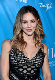 Katharine McPhee stuck to her signature long wavy style when she attended the UN special event.