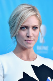 Brittany Snow worked an elegant loose updo while attending a UN event.