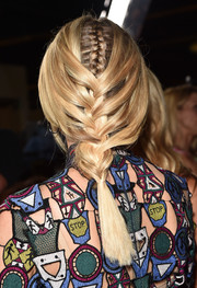 Diane Kruger attended the premiere of 'The Bridge' rocking this unique double braid.