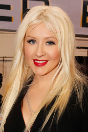 Pop star Christina Aguilera wore her trademark red lipstick to sing the national anthem at the 2011 Super Bowl.