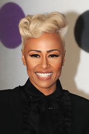 Emeli Sande channeled old Hollywood with a bleach blonde pompadour at the 2013 Brits.