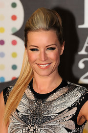 Denise can Outen chose a super high ponytail for a playful, but modern feel at the 2013 Brit Awards.