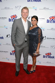 Sean Lowe looked handsome at the BritWeek Celebrates Downton Abbey event in a gray suit paired with a white button-down.
