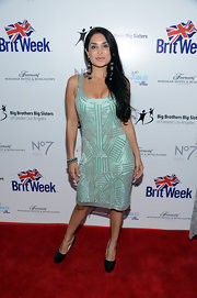 Saye Yabandeh's beaded turquoise dress at the BritWeek Celebrates Downton Abbey event had a chic Art Deco feel.