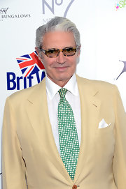 Michael Nouri brightened up his look with a green and white geometric-print tie at the BritWeek Celebrates Downton Abbey event.