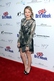 Shantel VanSanten looked super sophisticated at the BritWeek Celebrates Downton Abbey event in an embellished sheer-overlay dress.