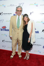 Kathy Fischer's white fur scarf was a glam finish to her ensemble at the BritWeek Celebrates Downton Abbey event.