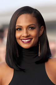 Alesha Dixon added drama to her look with a pair of super-long dangling chain earrings on 'Britain's Got Talent.'