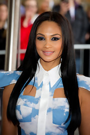 Alesha Dixon looked divine at the 'Britain's Got Talent' press launch wearing her long hair down with a center part.