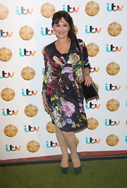 Arlene Phillips chose a vibrant floral frock with a gathered waist for her look at the British Animal Honours.