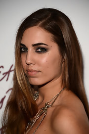 Amber Le Bon looked naturally pretty with her long tresses down at the British Fashion Awards 2012.