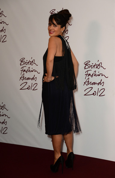 More Pics of Salma Hayek Cocktail Dress (1 of 7) - Salma Hayek Lookbook - StyleBistro