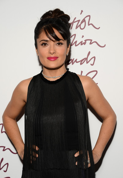 More Pics of Salma Hayek Cocktail Dress (5 of 7) - Salma Hayek Lookbook - StyleBistro